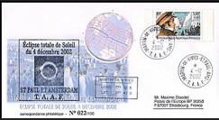 TAAF 02E1 2002 - Eclipse totale du soleil ST PAUL ET AMSTERDAM