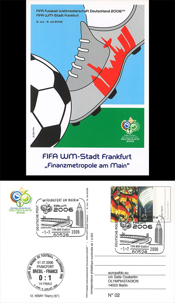 12 fdc allemagne fifa coupe du monde 2006 match equipe de. Black Bedroom Furniture Sets. Home Design Ideas