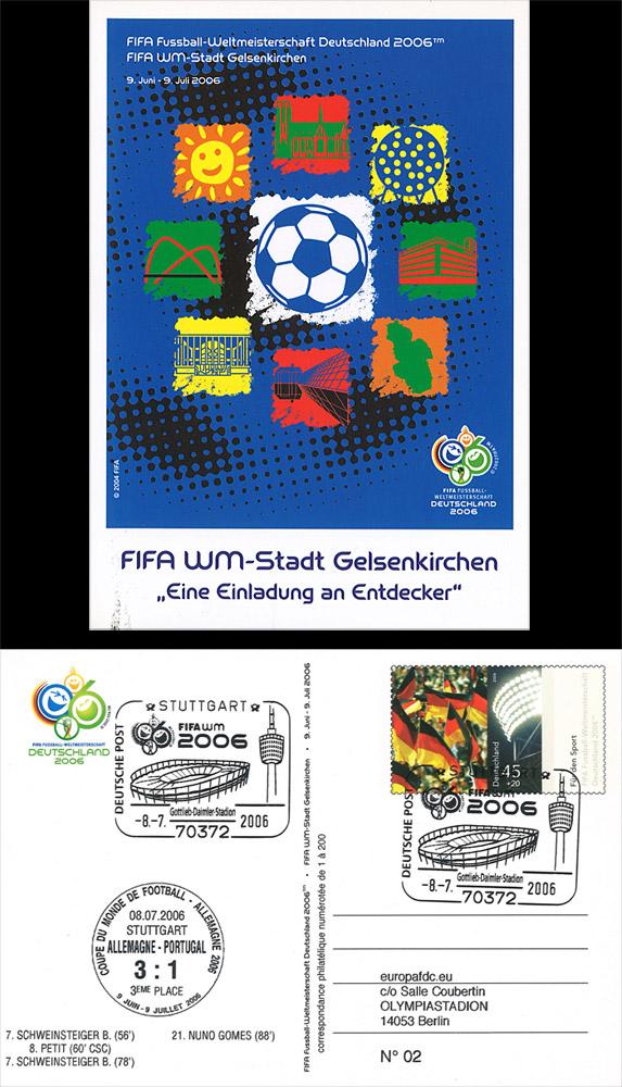 12 fdc allemagne fifa coupe du monde 2006 match equipe de france football 2006 ebay. Black Bedroom Furniture Sets. Home Design Ideas