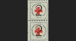 55W1-41 : 1914 - Paire TP Croix Rouge allemande 1914