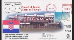 CE47-IVB - 1996 - Adhésion de la Croatie au Conseil de l'Europe