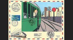 TIN07-SNCBT1 : 2007 - Bloc Tintin SNCB 1er Jour Bruxelles + TGV Parlement européen