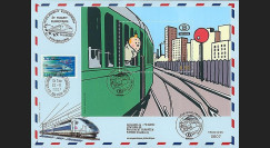 TIN07-SNCBT2 : 2007 - Bloc Tintin SNCB 1er Jour Liège + TGV Parlement européen