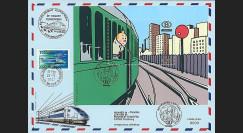 TIN07-SNCBT3 : 2007 - Bloc Tintin SNCB 1er Jour Antwerpen + TGV Parlement européen