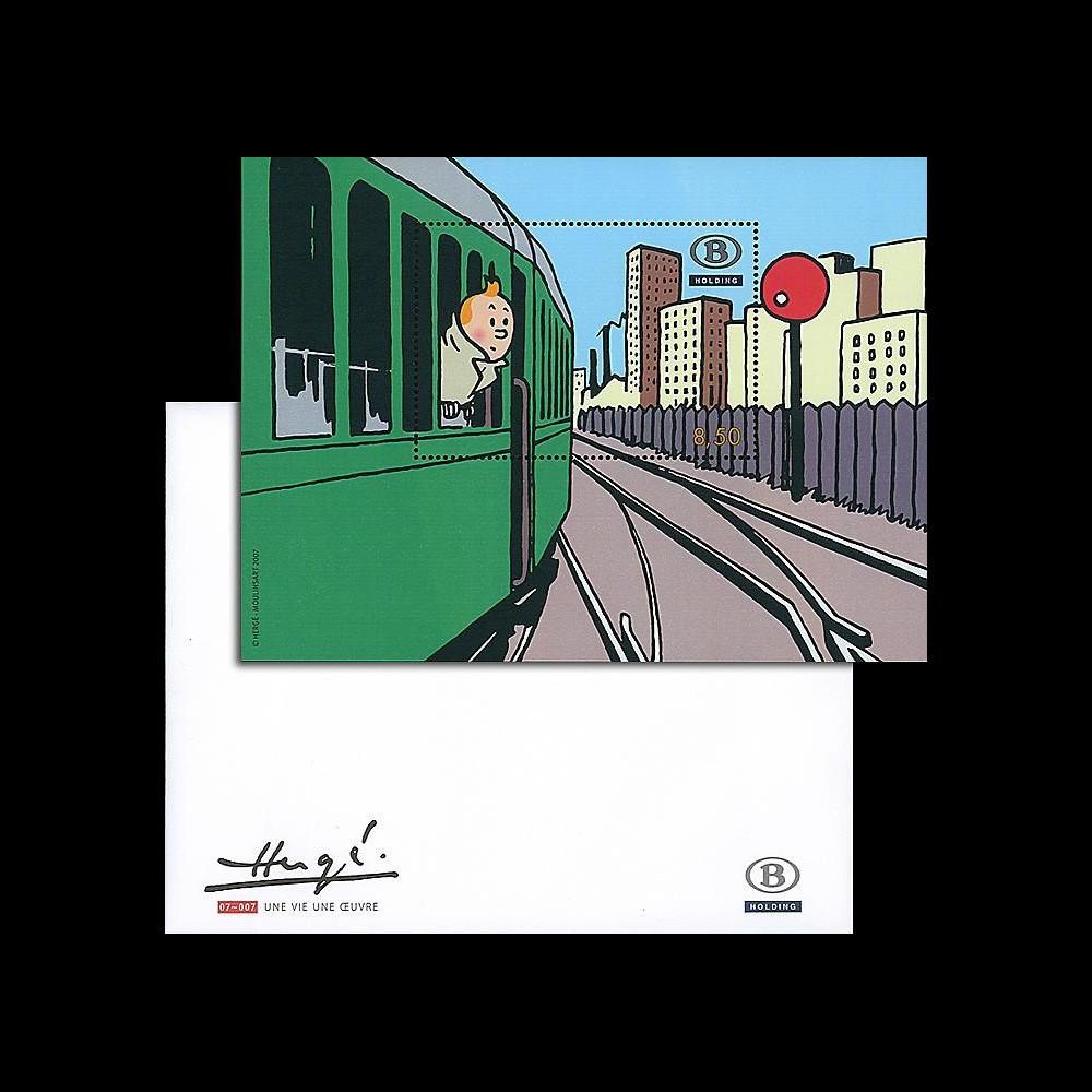 TIN07-SNCBN : 2007 - Bloc Tintin Belgique SNCB