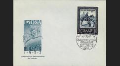JT52ST4 : 1952 - FDC IMOSA Journée du Timbre