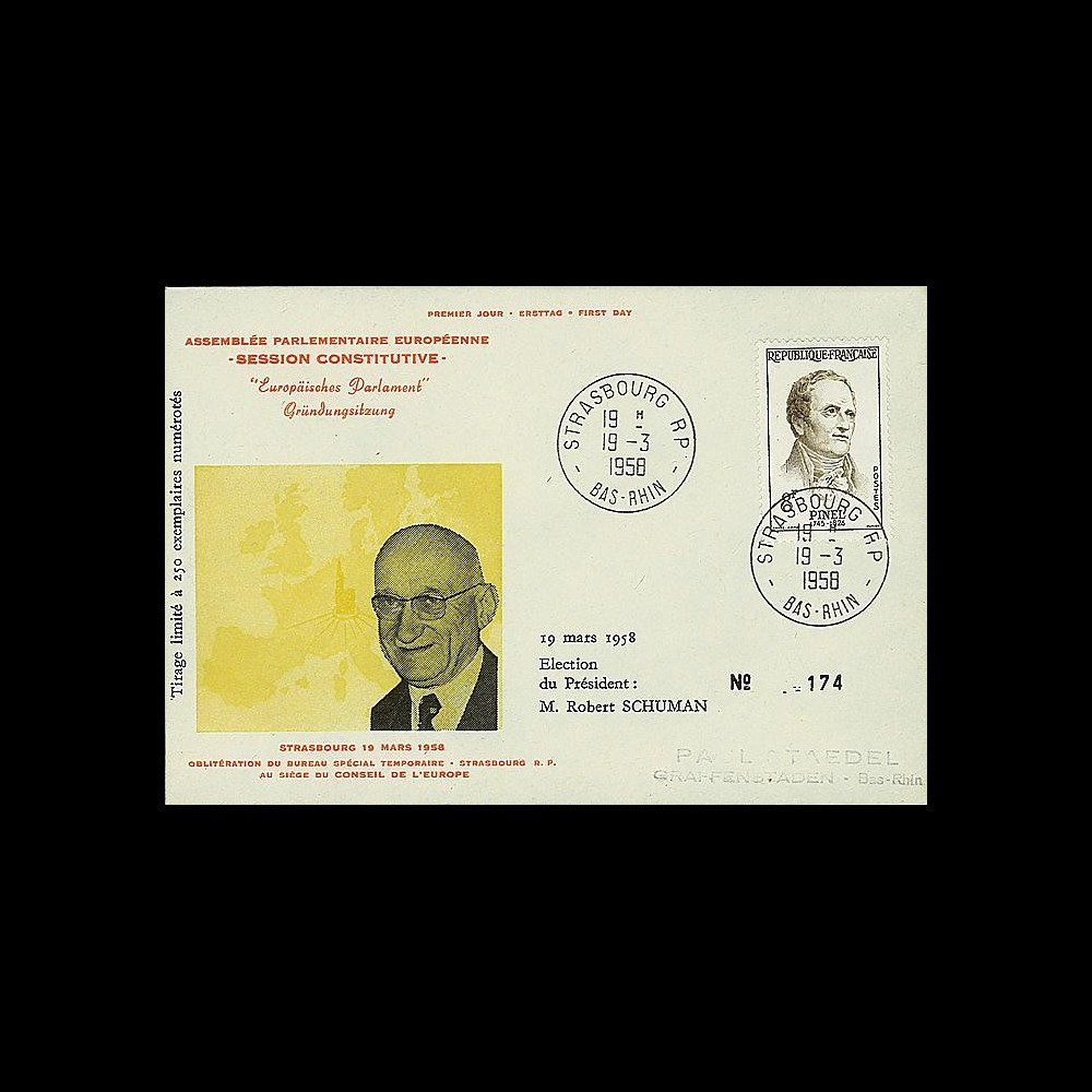 OH2I-T1 : 1958 - Assemblée parlementaire eur. - Session Constitutive 8F Pinel TAD