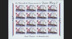 QM2-2FND : 2003 - Feuillet La Patrouille de France escorte le Queen Mary 2