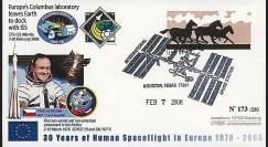 PE555 - 2008 : FDC STS-122 Atlantis - laboratoire spatial européen Columbus