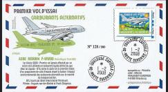 A380-57 : 2008 - FDC France - 1er vol A380 gaz 'GTL'