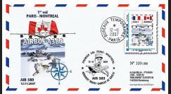 A380-53 : 2007 - FDC France '1er vol de présentation Paris - Montreal'