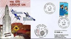 V178L-T1 - France 2007 : FDC Kourou Vol 178 Ariane 526