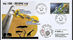 V180L-T1 - France 2007 : FDC Kourou Vol 180 Ariane 530