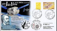 V181L-T2 - France 2008 : FDC Kourou Vol 181 Ariane 528 - ATV Jules Verne