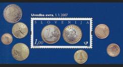 PE546N - 2007 : Bloc Slovénie - 1er timbre en Euros