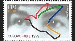 KO-D99NF : 1999 - 1 valeur '1er timbre d'entraide aux réfugiés du Kosovo'