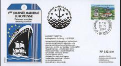 PE560 : 2008 - FDC Session du PE '1ère Journée maritime européenne'