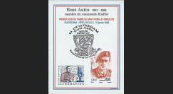 SPM08-2B : 2008 -  Bloc porte-timbre 'de Gaulle - René Autin'