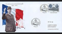 """DG08-2T2 : 2008 - Entier Postal """"1er Jour - Mémorial Charles DE GAULLE"""" (Paris)"""