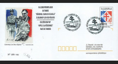 """DG08-3 : 2008 - Entier Postal """"1er Jour Mémorial DE GAULLE / Appel à la Résistance"""""""