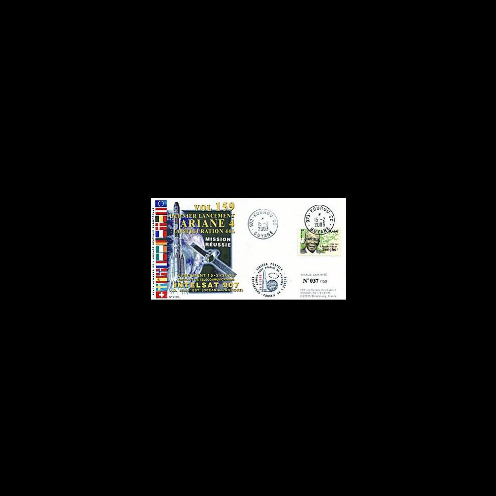 V159L : 2003 - Ariane Vol 160 lancement du satellite Intelsat 907