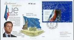 PE562 T1 : 2008 - FDC Présidence française UE + M. Sarkozy - TP Prés. franç.