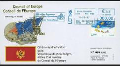CE58-IIA : 2007 - Adhésion du Monténégro au Conseil de l'Europe