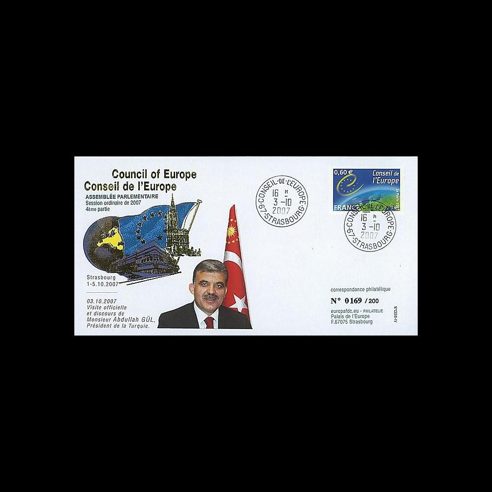 CE58-IV : 2007 - Visite et discours du Président de Turquie