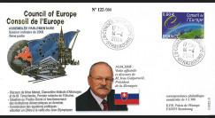 "CE59-II FDC Conseil de l'Europe ""Visite Ivan GASPAROVIC"