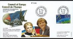 CE59-IIA : 2008 - FDC 'Discours de Mesdames Merkel et Timochenko'