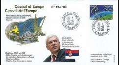 CE59-III : 2008 - FDC 'Visite reportée du Président serbe