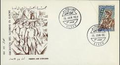 ALG10 : 1968 - FDC Algérie 'Emigration des Algériens en Europe'