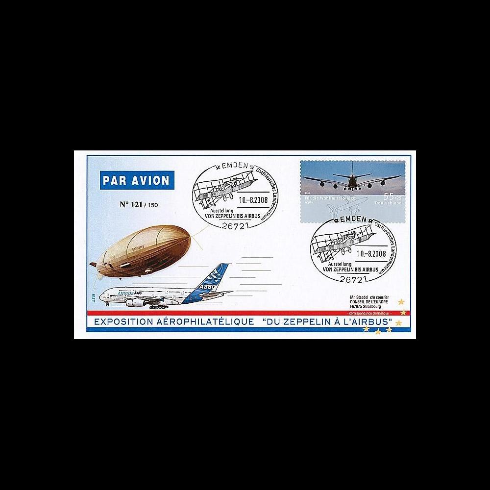 A380-64 : 2008 - Exposition 'du Zeppelin à l'Airbus A380' Emden (All)