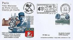 """DG08-4 : 2008 - FDC """"DE GAULLE - 68 ans Appel 18 Juin 1940"""" (Paris Armées les Loges)"""