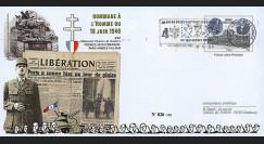 """DG08-4PAP : 2008 - Entier Postal """"DE GAULLE - 68 ans Appel 18 Juin"""" (Armées les Loges)"""