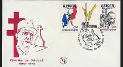 DG85-CO : 1985 - FDC 'XVe anniversaire de la mort de de Gaulle'