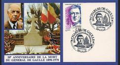 DG90-CP3 : 1990 - Carte Lille '20 ans mort de Gaulle + 100 ans naissance'