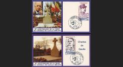 DG90-CP5-6 : 1990 - 2 CP '20 ans mort de Gaulle' St-Pierre-et-Miquelon