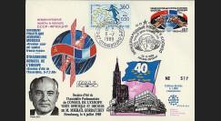CE41-IIA : 1988 - pli 'Visite Pdt. Gorbatchev au Conseil de l'Europe'
