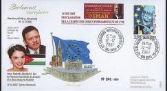 "PE547 : 12.12.07 - FDC Session PE ""Visite du Roi Abdullah II de Jordanie - prix Sakharov"""