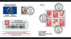 CE59-IIIa : 2008 - Recommandée 'Visite reportée Pdt serbe
