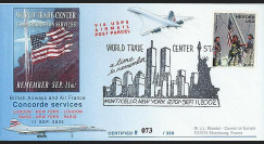 UWS-11 : 2002 - Pli Concorde USA 'Attentats - Twin Towers - Monticello'