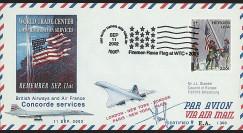 UWS-12 : 2002 - Pli Concorde USA 'Attentats - Firemen Raise Flag'