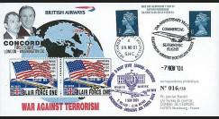 BA 9093-1 : 2001 - Pli Concorde 'Blair Force One' - terrorisme en Afghanistan