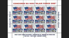 BA 9093-2FD : 2001 - Vignettes Concorde 'Blair Force One' dentelées