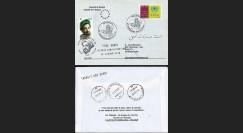 PE472A T2 : 2001 - Pli 'transit Abu Dhabi - arrivée et réexpédition Kaboul'