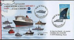 QM2-6 : 2004 - La Marine Nationale accueille le Queen Mary 2 à Cherbourg