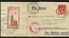 GA-27S2 1927 - Courrier par ballon monté Le Petit Parisien