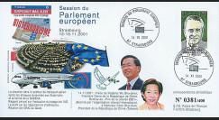 PE443 : 2001 - FDC 'Situation du transport aérien - visite 1ère Dame de Chine'