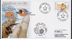 V182L-T1 - France 2008 : FDC Kourou Vol 182 Ariane 539